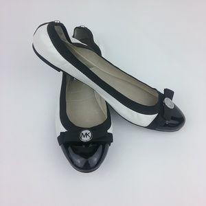 Michael Kors Black White Captoe Ballet Flat